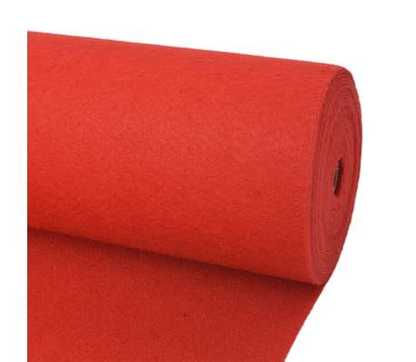 vidaXL piros sima felületű kiállítási szőnyeg 1,6 x 12 m