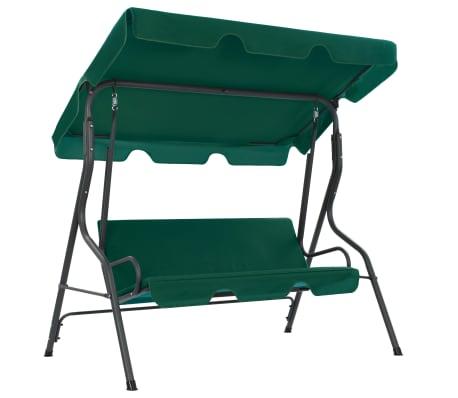 vidaXL Garden Swing Bench Green 170x110x153 cm Fabric