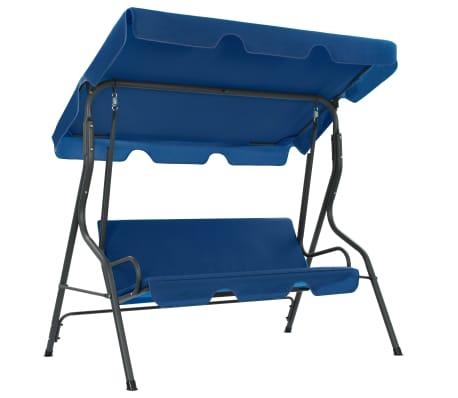 vidaXL Garden Swing Bench Dark Blue 170x110x153 cm Fabric