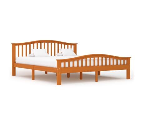 vidaXL Cadru de pat, maro miere, 180 x 200 cm, lemn masiv de pin