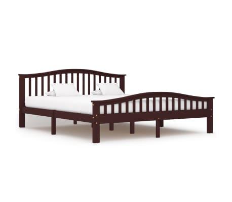 vidaXL Cadru de pat, maro închis, 180 x 200 cm, lemn masiv de pin
