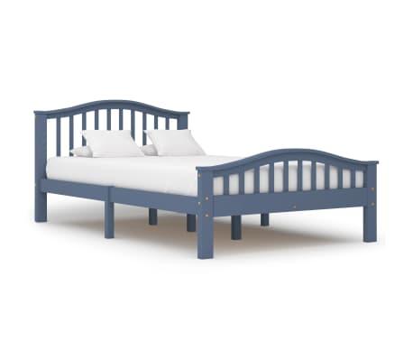 vidaXL Cadru de pat, gri, 120 x 200 cm, lemn masiv de pin