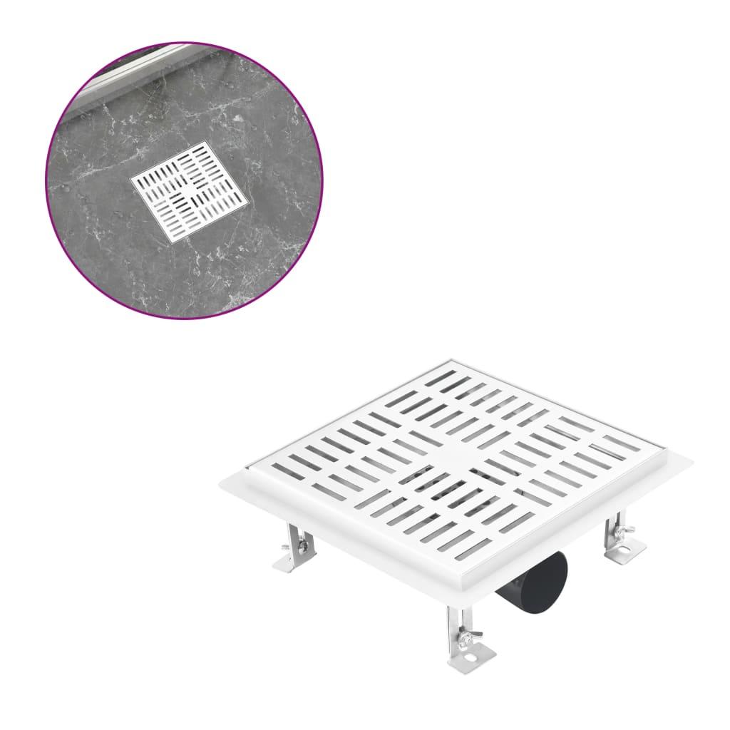 vidaXL Rigolă duș, fante verticale/orizontale 20x20 cm oțel inoxidabil poza vidaxl.ro