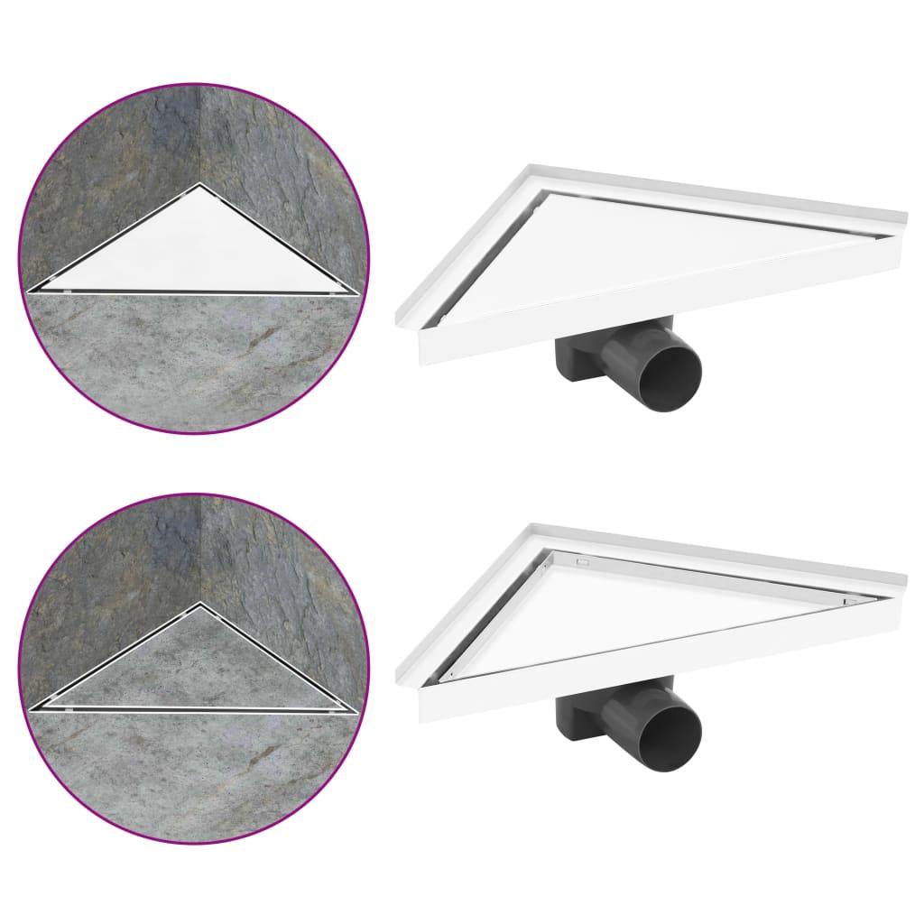 Sprchový žlab s krytem 2 v 1 25 x 25 cm nerezová ocel