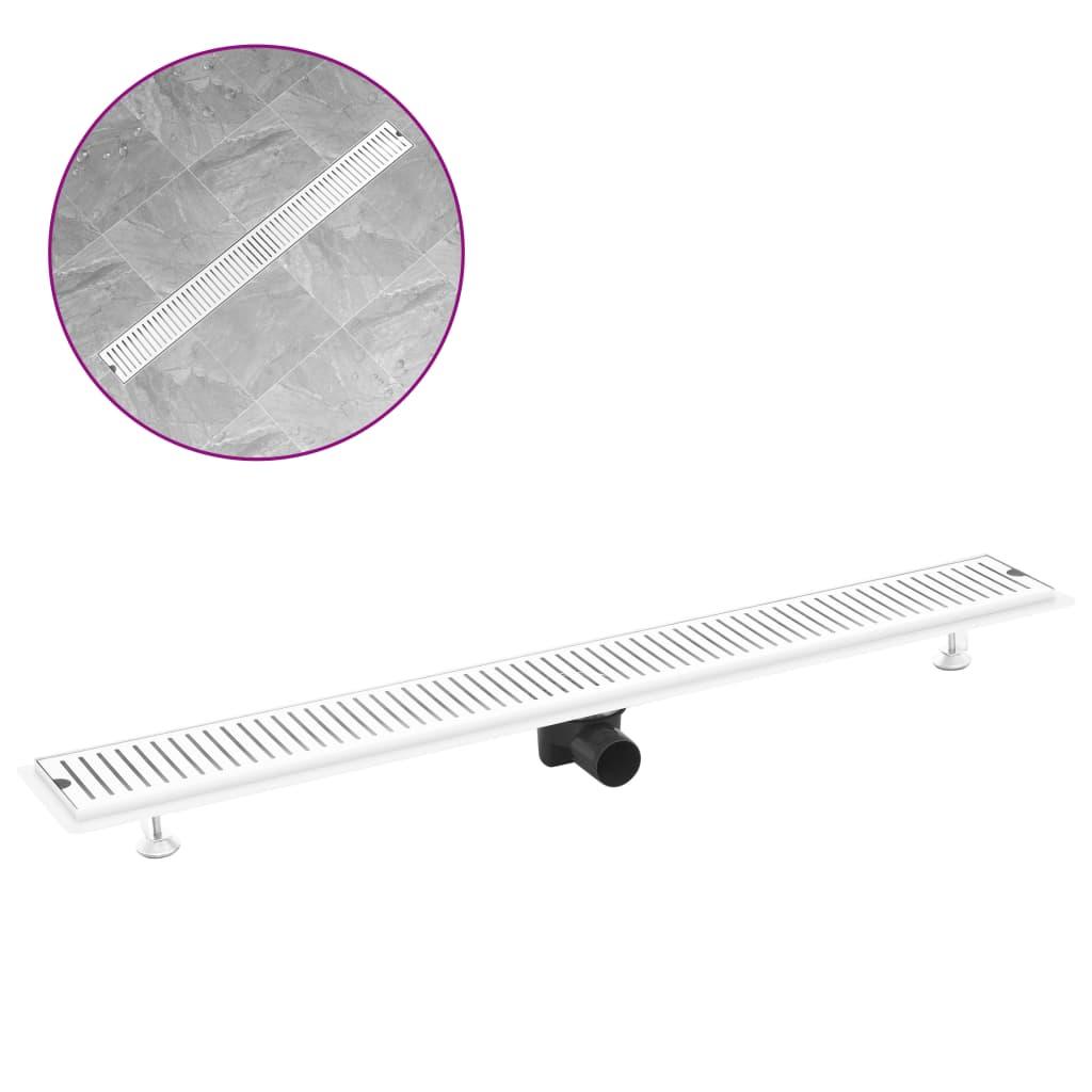 Sprchový žlab větrací otvory 103 x 14 cm nerezová ocel