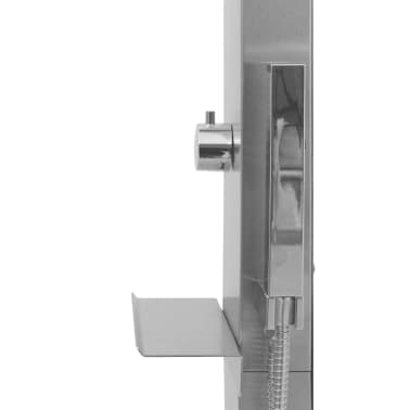 vidaXL Shower Panel System Stainless Steel Curved[5/7]
