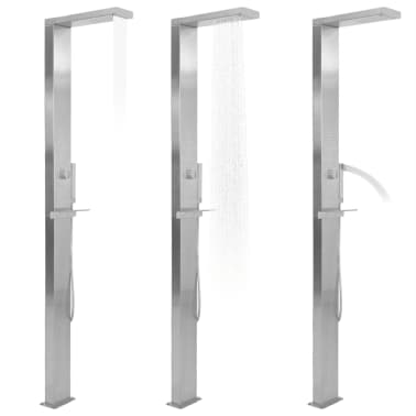 vidaXL Shower Panel System Stainless Steel Square[2/7]