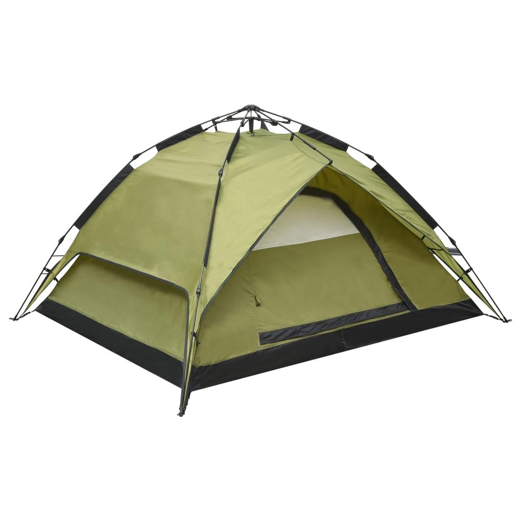 vidaXL Cort de camping stil pop-up 2-3 persoane verde 240x210x140 cm vidaxl.ro