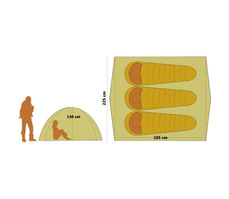 Handla vidaXL Pop up campingtält 3 personer grön | vidaXL.se
