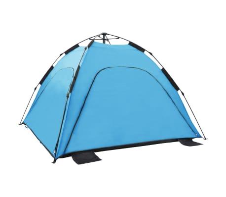 vidaXL Pop-up strandtält 220x220x160 cm blå