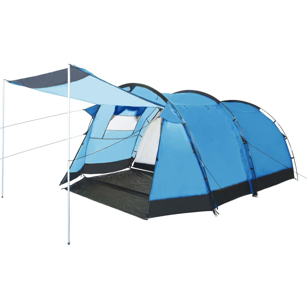 vidaXL Cort de camping tip tunel, 4 persoane, albastru poza 2021 vidaXL