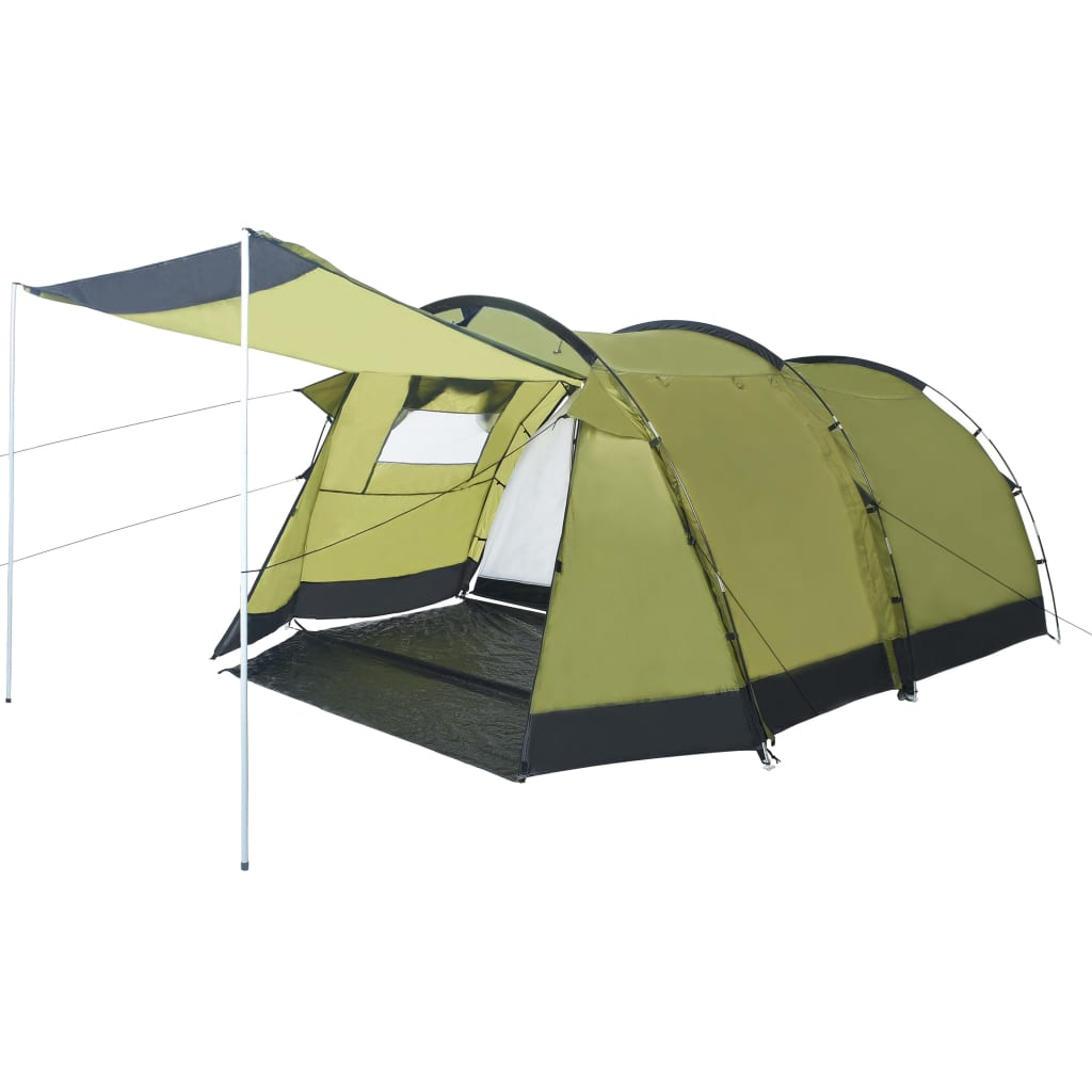 vidaXL Cort de camping tip tunel, 4 persoane, verde vidaxl.ro