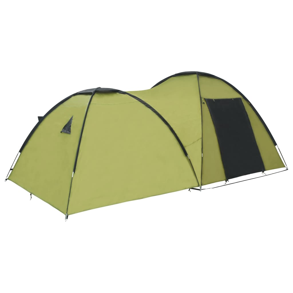 vidaXL Cort camping tip iglu, 4 persoane, verde, 450 x 240 x 190 cm vidaxl.ro