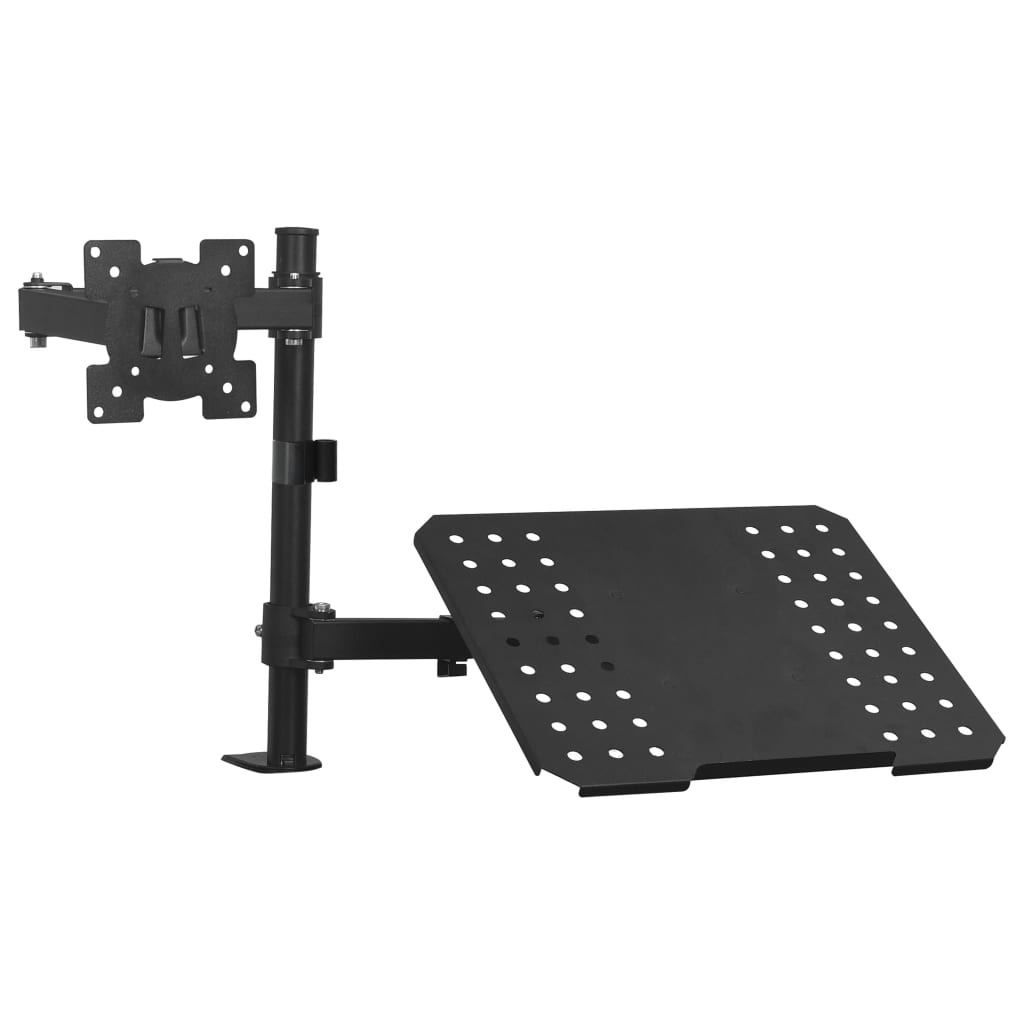 """vidaXL Suport monitor laptop dublu pentru birou, ecran de 13""""-23"""" imagine vidaxl.ro"""
