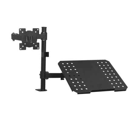 "vidaXL Monitor Laptop Dual Desk Mount Bracket 13""-23"""