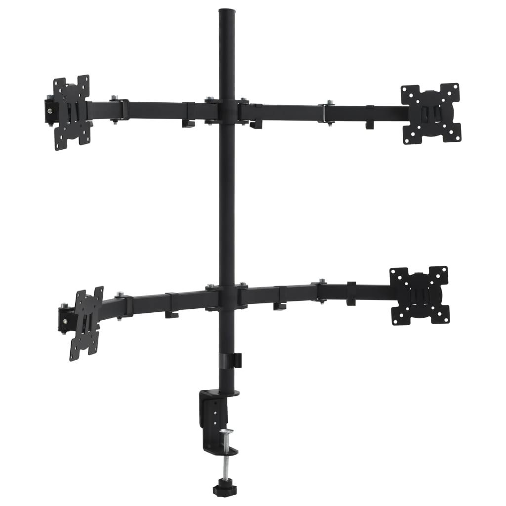 vidaXL 4ramenný stolní držák na monitor 13–23''