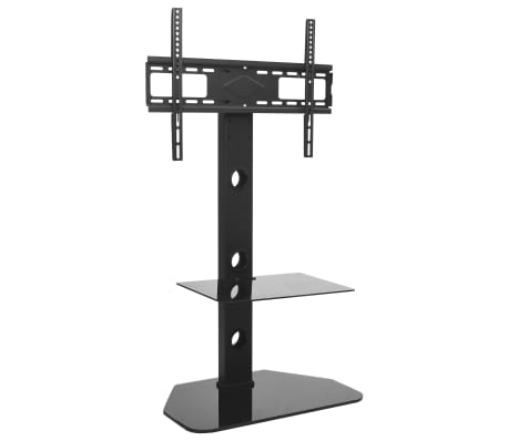 "vidaXL Swivel TV Floor Stand Mount 32""-70"" with Shelf"
