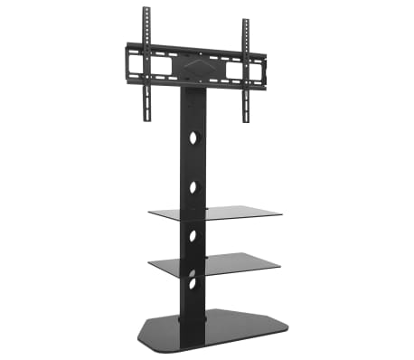 """vidaXL Swivel TV Floor Stand Mount 32""""-70"""" with 2 Shelves"""