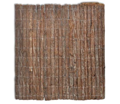 vidaXL Gard din scoarță de copac, 400 x 170 cm