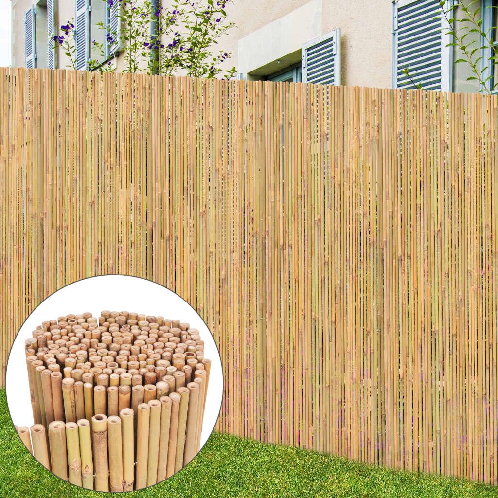 vidaXL Bambusový plot 300x125 cm
