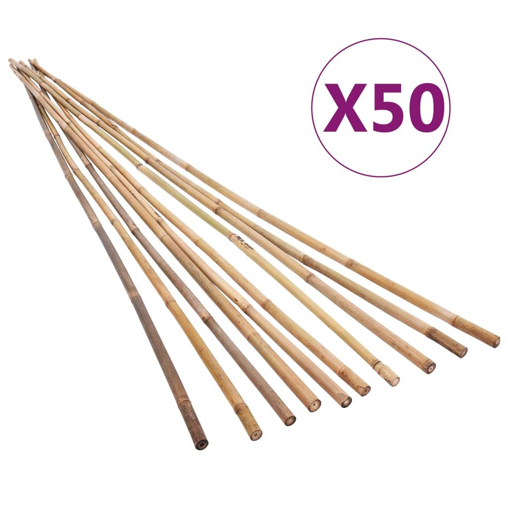 vidaXL Zahradní bambusové tyče 50 ks 120 cm
