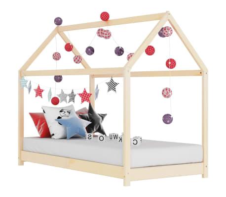 vidaXL Vaikiškos lovos rėmas, 80x160cm, pušies medienos masyvas[1/7]