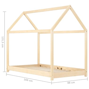 vidaXL Vaikiškos lovos rėmas, 80x160cm, pušies medienos masyvas[7/7]