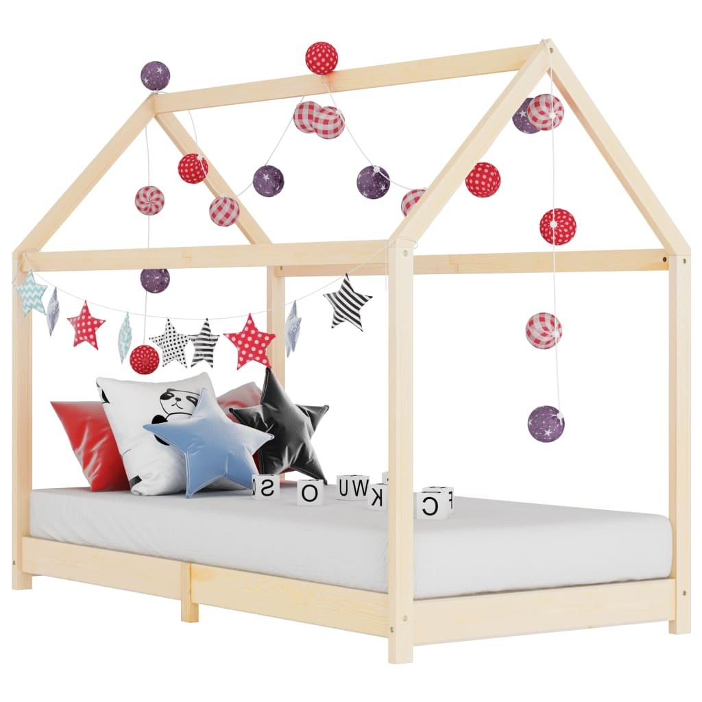 Rám dětské postele masivní borové dřevo 90 x 200 cm