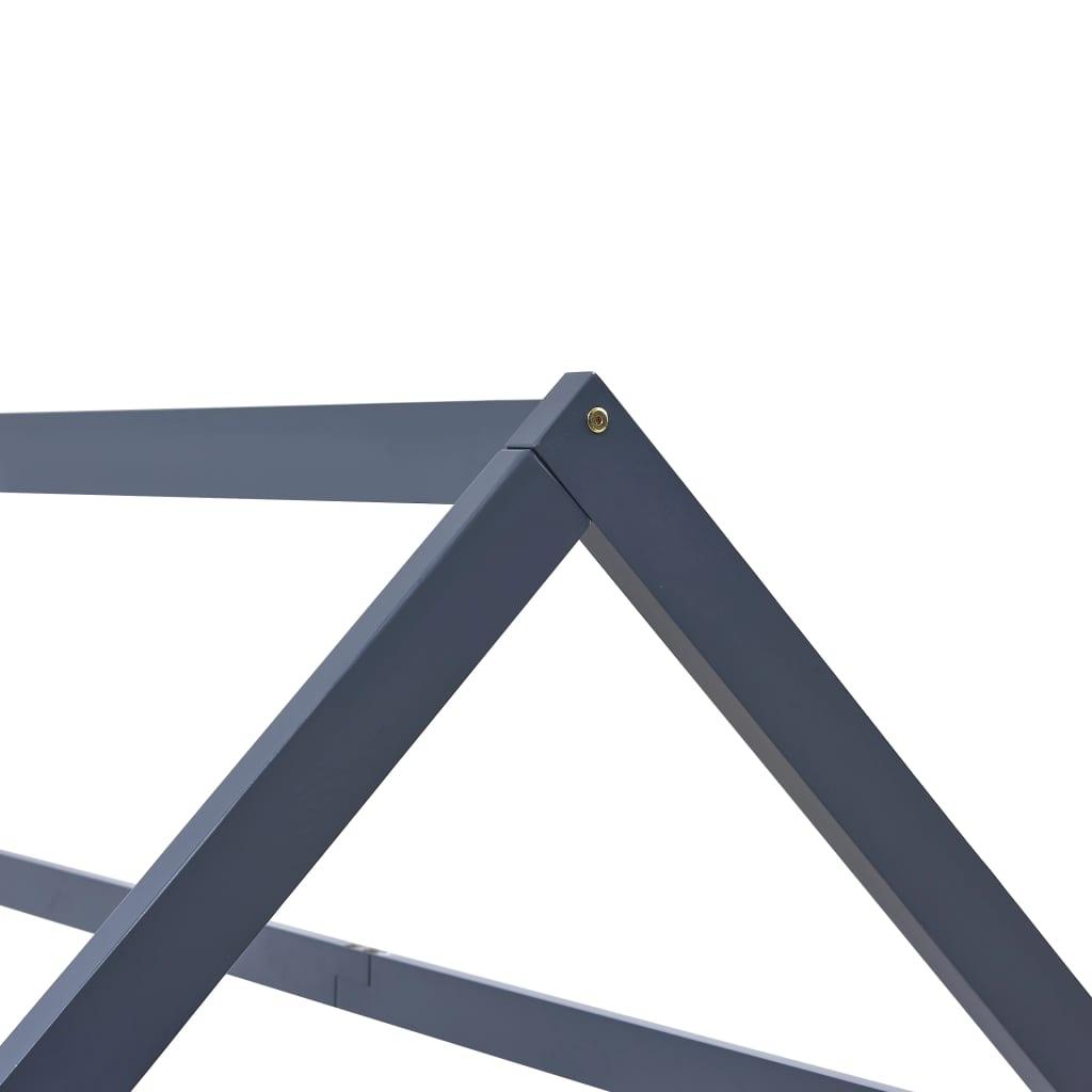vidaXL Kinderbedframe massief grenenhout grijs 70x140 cm