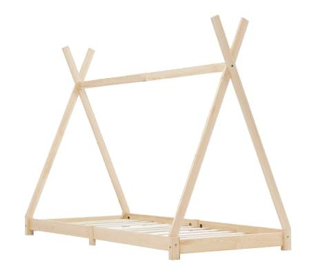 vidaXL Vaikiškos lovos rėmas, 80x160cm, pušies medienos masyvas[2/7]