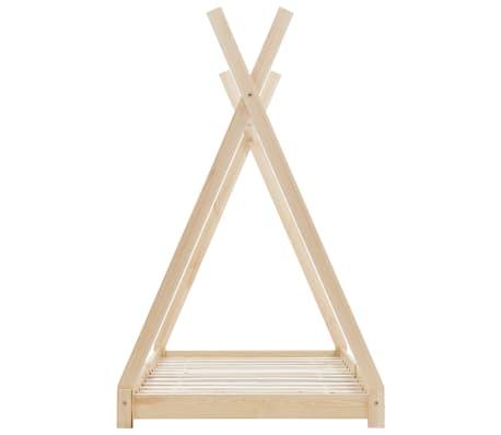 vidaXL Vaikiškos lovos rėmas, 80x160cm, pušies medienos masyvas[4/7]