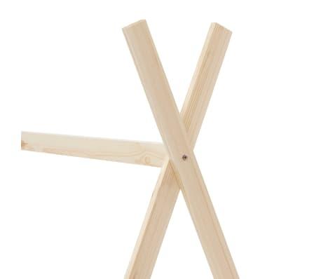vidaXL Vaikiškos lovos rėmas, 80x160cm, pušies medienos masyvas[5/7]