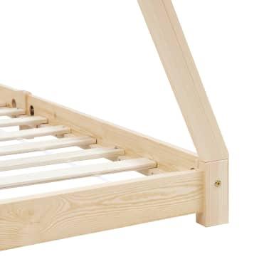 vidaXL Vaikiškos lovos rėmas, 80x160cm, pušies medienos masyvas[6/7]