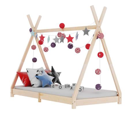 vidaXL Vaikiškos lovos rėmas, 90x200cm, pušies medienos masyvas
