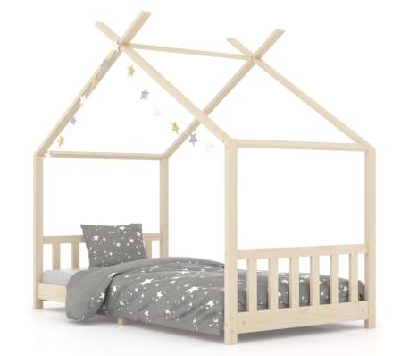 vidaXL Vaikiškos lovos rėmas, 90x200cm, pušies medienos masyvas[1/8]