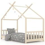 vidaXL Estrutura de cama para crianças 90x200 cm pinho maciço
