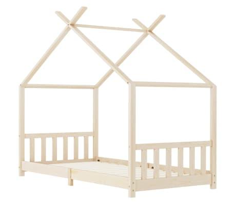 vidaXL Vaikiškos lovos rėmas, 90x200cm, pušies medienos masyvas[2/8]