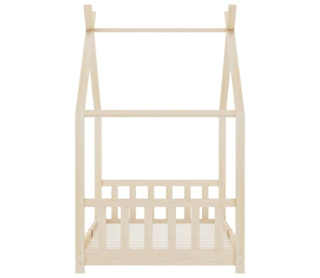 vidaXL Vaikiškos lovos rėmas, 90x200cm, pušies medienos masyvas[4/8]
