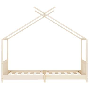 vidaXL Vaikiškos lovos rėmas, 90x200cm, pušies medienos masyvas[3/8]