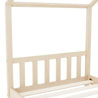 vidaXL Vaikiškos lovos rėmas, 90x200cm, pušies medienos masyvas[5/8]