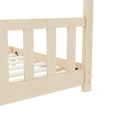 vidaXL Vaikiškos lovos rėmas, 90x200cm, pušies medienos masyvas[6/8]