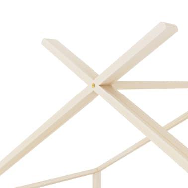 vidaXL Vaikiškos lovos rėmas, 90x200cm, pušies medienos masyvas[7/8]