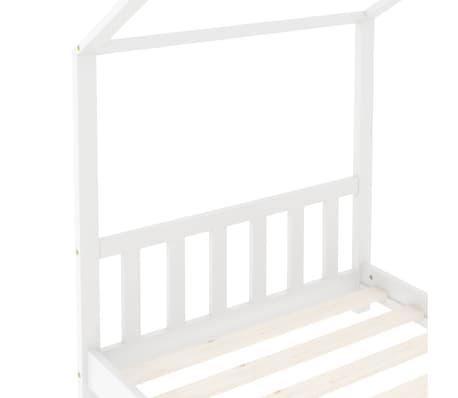 vidaXL Vaikiškos lovos rėmas, baltos spalvos, 70x140cm, pušies masyvas[5/8]