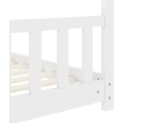 vidaXL Vaikiškos lovos rėmas, baltos spalvos, 70x140cm, pušies masyvas[6/8]