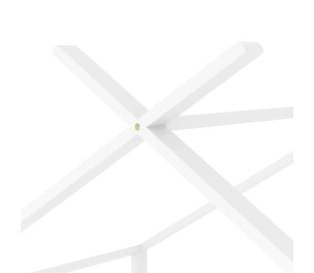 vidaXL Vaikiškos lovos rėmas, baltos spalvos, 70x140cm, pušies masyvas[7/8]
