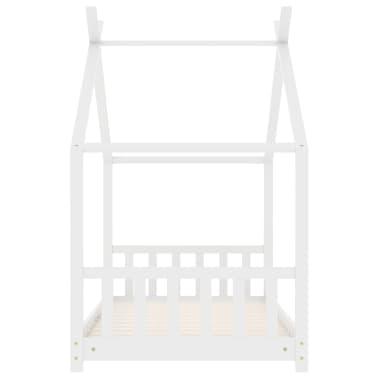 vidaXL Vaikiškos lovos rėmas, baltos spalvos, 70x140cm, pušies masyvas[4/8]