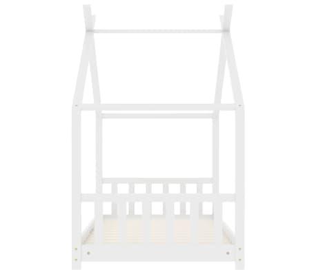 vidaXL Vaikiškos lovos rėmas, baltos spalvos, 80x160cm, pušies masyvas[4/8]