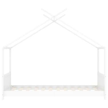 vidaXL Vaikiškos lovos rėmas, baltos spalvos, 80x160cm, pušies masyvas[3/8]