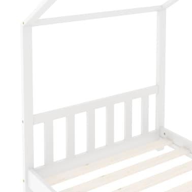 vidaXL Vaikiškos lovos rėmas, baltos spalvos, 80x160cm, pušies masyvas[5/8]