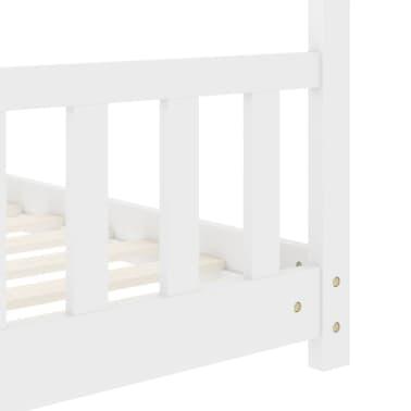 vidaXL Vaikiškos lovos rėmas, baltos spalvos, 80x160cm, pušies masyvas[6/8]